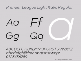 Premier League Light Italic