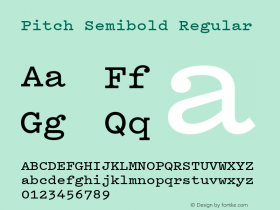 Pitch Semibold