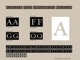 Requiem Text Ornaments