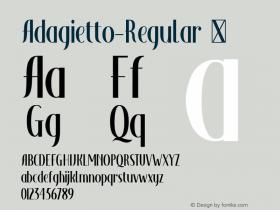 Adagietto-Regular