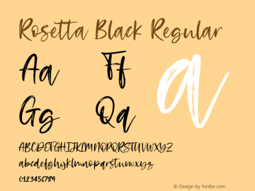 Rosetta Black