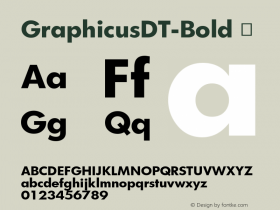 GraphicusDT-Bold