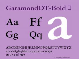 GaramondDT-Bold