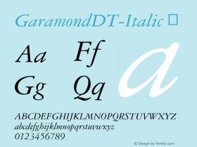 GaramondDT-Italic