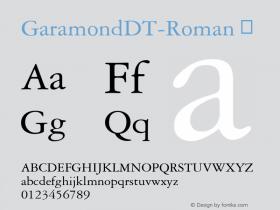 GaramondDT-Roman