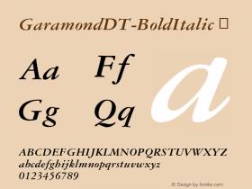 GaramondDT-BoldItalic