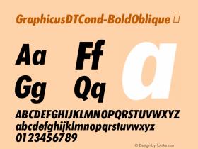 GraphicusDTCond-BoldOblique