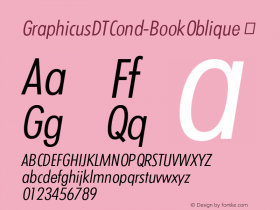 GraphicusDTCond-BookOblique