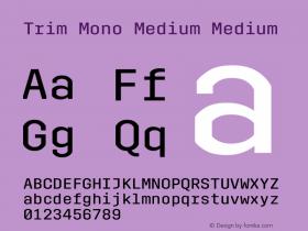 Trim Mono Medium