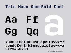 Trim Mono SemiBold