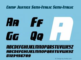 Camp Justice Semi-Italic
