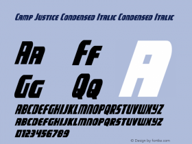 Camp Justice Condensed Italic