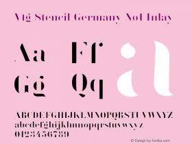 Vtg Stencil Germany No1