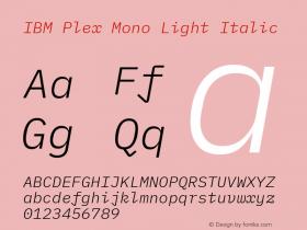 IBM Plex Mono Light