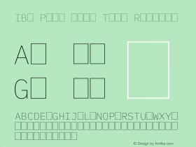 IBM Plex Mono Thin