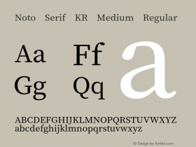 Noto Serif KR Medium