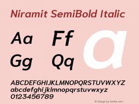 Niramit SemiBold