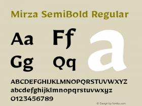 Mirza SemiBold