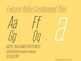 Fixture Italic