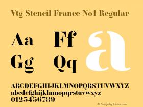 Vtg Stencil France No1