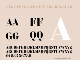 Vtg Stencil France No5