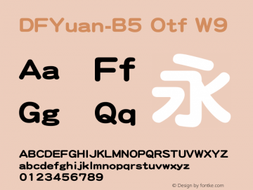 DFYuan-B5 Otf