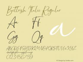 Bettrish Italic