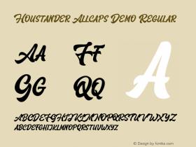 Houstander Allcaps Demo
