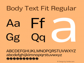 Body Text Fit