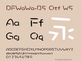 DFWaWa-B5 Otf