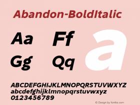 ☞Abandon-BoldItalic
