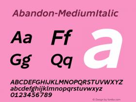 ☞Abandon-MediumItalic