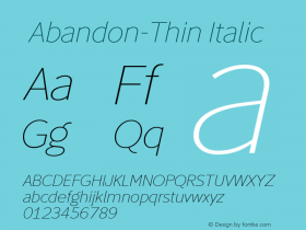 ☞Abandon-Thin Italic