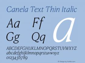 Canela Text