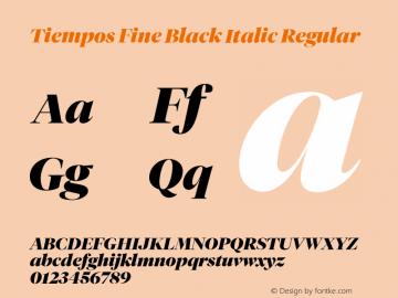 Tiempos Fine Black Italic