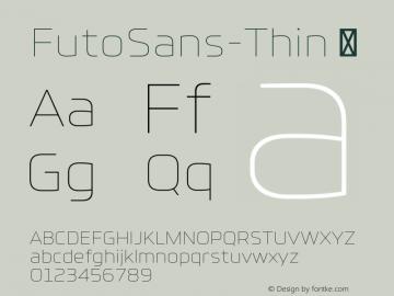 FutoSans-Thin