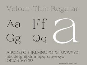 Velour-Thin