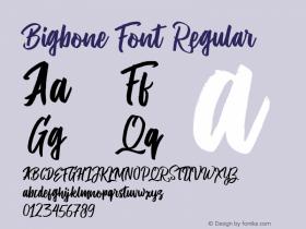 Bigbone Font