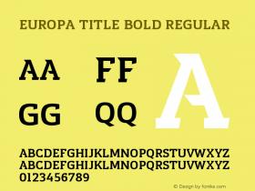 Europa Title Bold