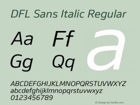 DFL Sans Italic