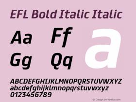 EFL Bold Italic