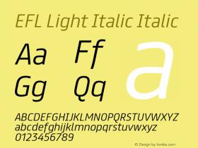 EFL Light Italic