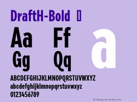 DraftH-Bold
