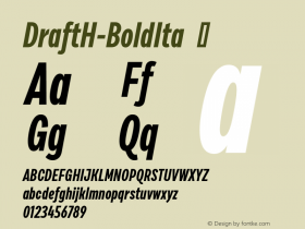 DraftH-BoldIta