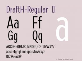 DraftH-Regular