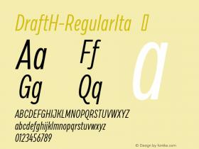 DraftH-RegularIta