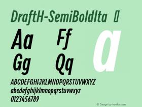 DraftH-SemiBoldIta