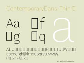 ContemporarySans-Thin