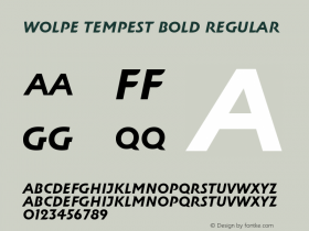 Wolpe Tempest Bold