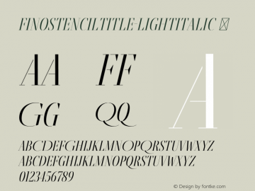 FinoStencilTitle-LightItalic